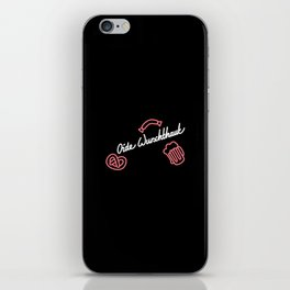 Oide Wurschthaut   [black & white] iPhone Skin