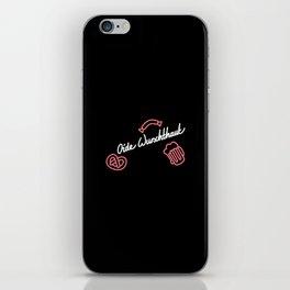 Oide Wurschthaut   [black & white] iPhone Skin
