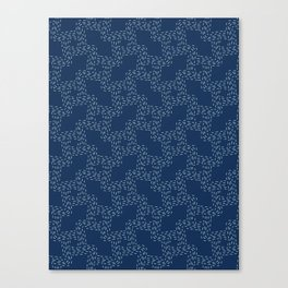 Traditional Sashiko Style Japanese Needlework Canvas Print