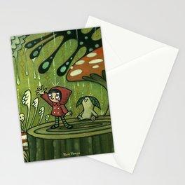 Waiting For The Rain by Kaori Hamura Stationery Cards