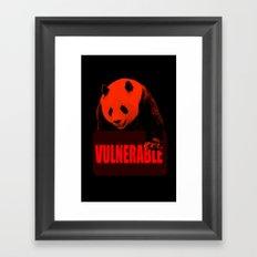 Vulnerable Giant Panda Framed Art Print