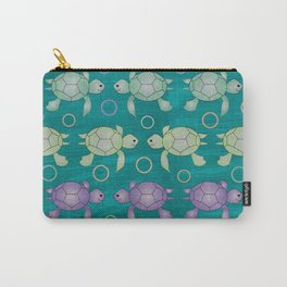 Funny Colored Turtle Patern for Kids Carry-All Pouch