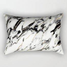 Classic White Marble Gold Foil Glam #1 #marble #decor #art #society6 Rectangular Pillow