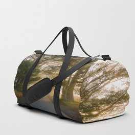 Daylight and Mist - Road with Warm Light in Great Smoky Mountains Duffle Bag