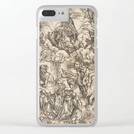 Albrecht Dürer - The Beast with Seven Heads (1511) Clear iPhone Case