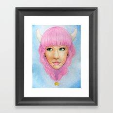 Bubblegum Queen Framed Art Print