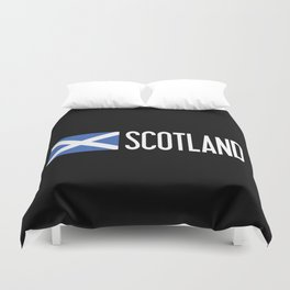 Scotland: Scottish Flag & Scotland Duvet Cover