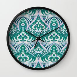 Decorative foliage and feathers drawing Wall Clock