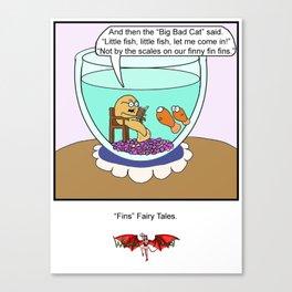 Fins Fairy Tails Canvas Print