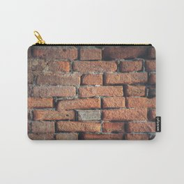 Weathered Red Brick Wall Texture Carry-All Pouch