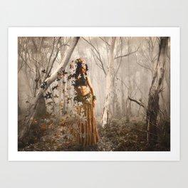 Forest's spirit Art Print