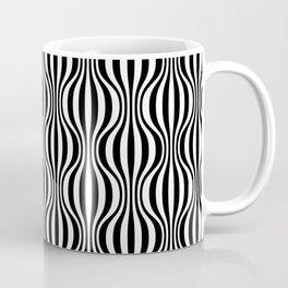 Black & White Wavy Pattern Coffee Mug