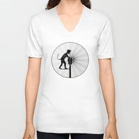 work hard V-neck T-shirts featuring Hard Work by siloto