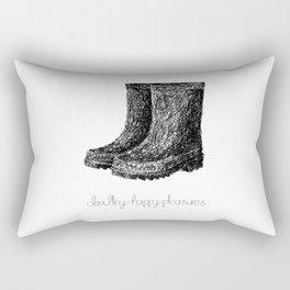 Rainboots Doodle Rectangular Pillow