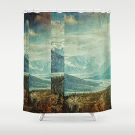 Fractions A25 Shower Curtain