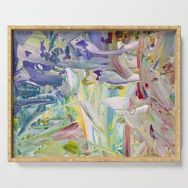 Abstracted Spring Iris Serving Tray