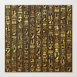 Gilded Hieroglyphs Canvas Print
