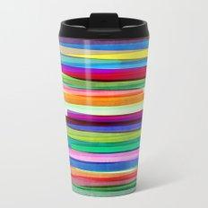 Colorful Stripes 1 Metal Travel Mug