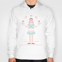 baking Hoodies featuring Pink Sugar Baking Girl  by Carly Watts