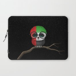 Baby Owl with Glasses and UAE Flag Laptop Sleeve
