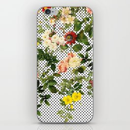 Points and Flowers Pattern iPhone Skin