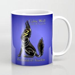 Celtic Zodiac Wolf Coffee Mug