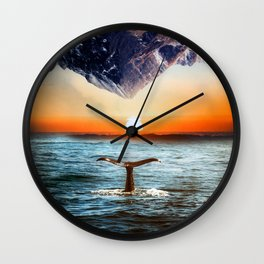 A whale and a morning Wall Clock