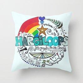 Hargiloops Throw Pillow