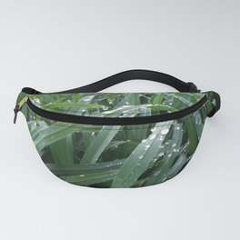 water drops on green grass Fanny Pack