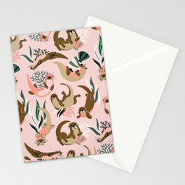 Otter Collection - Blush Palette Stationery Cards