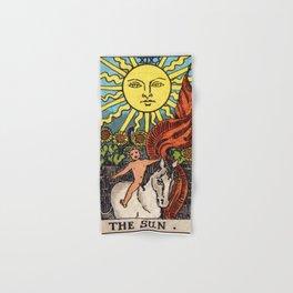 XIX. The Sun Tarot Card Hand & Bath Towel