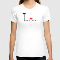 bonjour T-shirts featuring Bonjour by JiaMiin Berglund