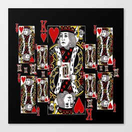 BLACK KING OF HEARTS CASINO PLAYING CARDS FROM Canvas Print