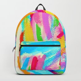 Keep Shining - rainbow brushstroke abstract painting lines pattern colorful modern art Backpack