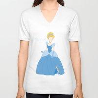 cinderella V-neck T-shirts featuring Cinderella  by Fraopic