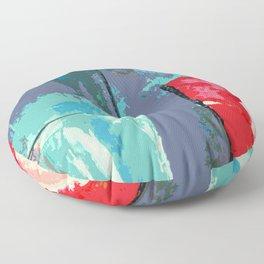 Shredder Patches #abstract #digitalpainting Floor Pillow