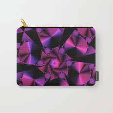 Abstract 344 a berry and black kaleidoscope Carry-All Pouch