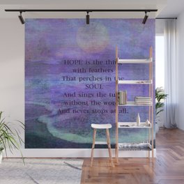 Emily Dickinson hope soul quote Wall Mural
