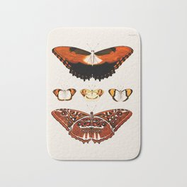 Vintage Moth and Butterfly Chart Bath Mat
