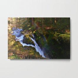Sol Duc Falls Rainbow Metal Print