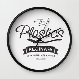 The Plastics - from the movie Mean Girls starring Lindsay Lohan Wall Clock