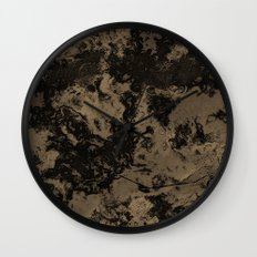 Galaxy in Taupe Wall Clock
