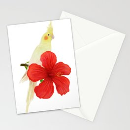 Lutino Cockatiel Stationery Cards