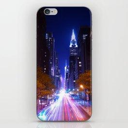 New York Night Life iPhone Skin