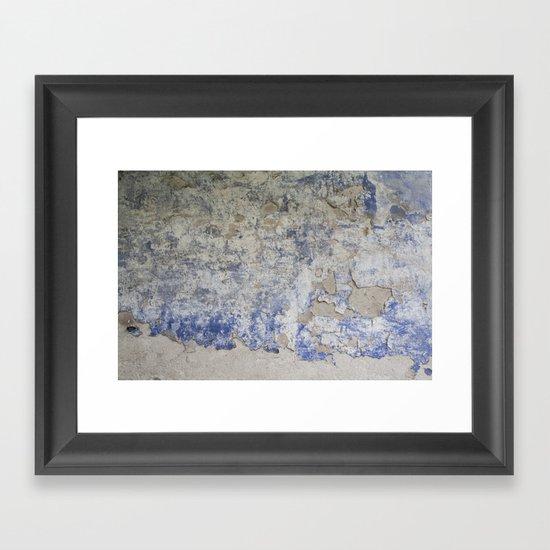Peeling Wall Framed Art Print