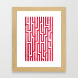 Enter the labyrinth Framed Art Print