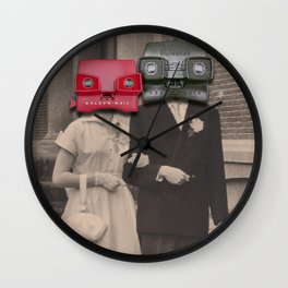 A match (viewmaster) Wall Clock