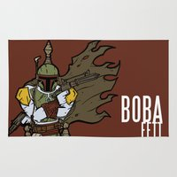boba Area & Throw Rugs featuring Boba Fett by Twisted Dredz