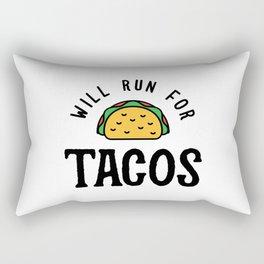 Will Run For Tacos v2 Rectangular Pillow