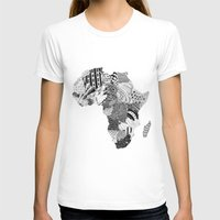 south africa T-shirts featuring Africa by Kacenka